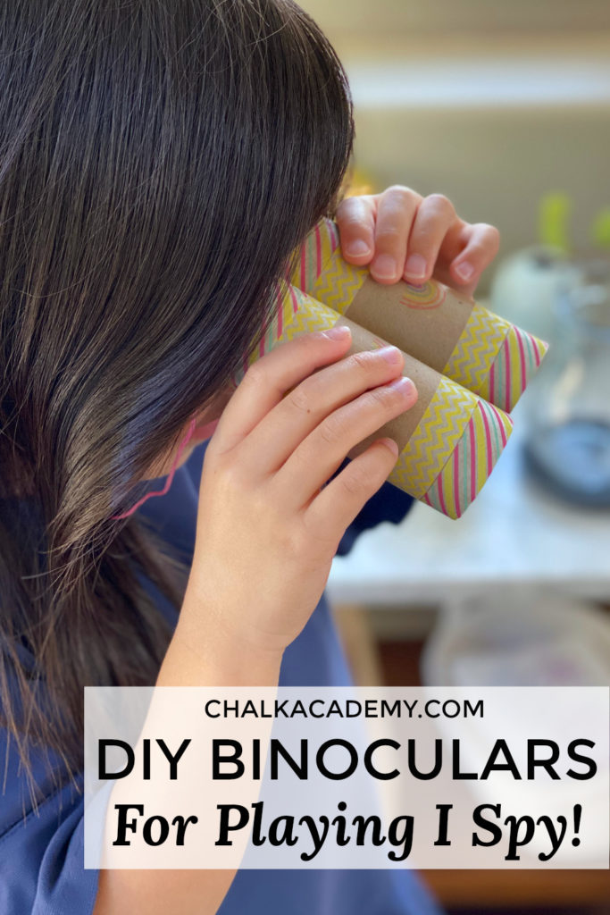 DIY Binoculars for playing I Spy in Chinese