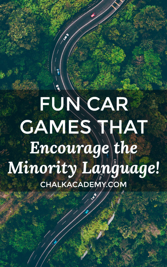Fun car road trip games for bilingual kids and the whole family; great, screen-free ideas that encourage the minority language (eg, Mandarin Chinese). Also can use for air travel, restaurants, doctor's office waiting rooms, school icebreaker activities, and family game night!
