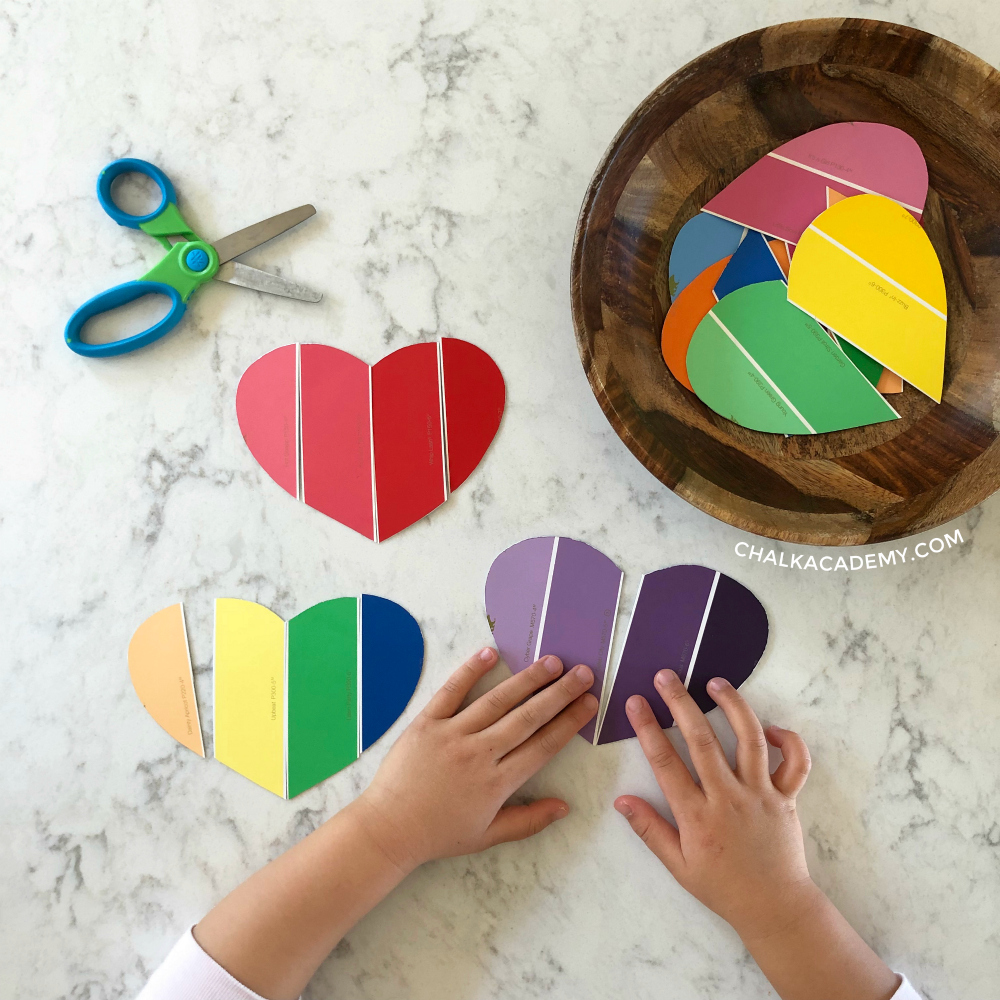 6 Educational Paint Chip Activities for Toddlers and Preschoolers!