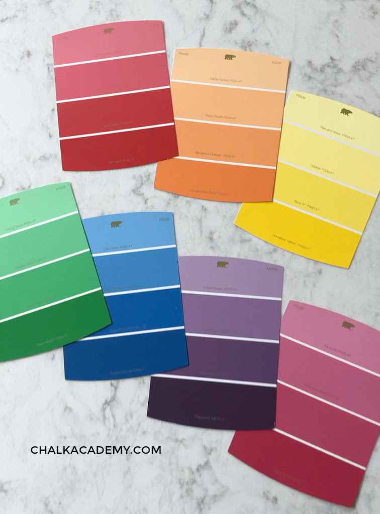 Paint chips, also known as paint color samples or paint swatch cards, are fantastic teaching resources because of the various shades of color.