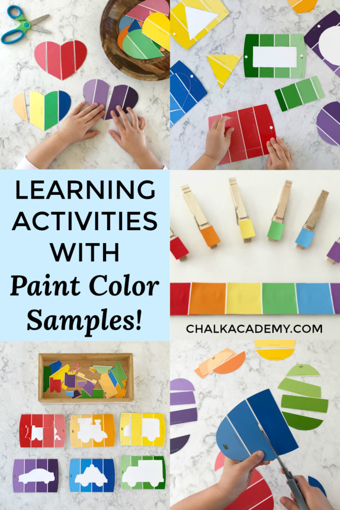 Learning activities with paint color samples