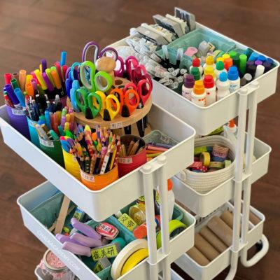 Kids Art Cart, Storage Tour, and Organization Tips