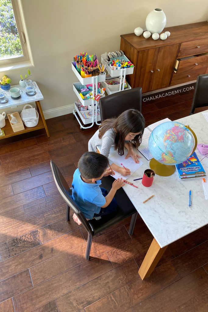 distance learning; part-time homeschooling