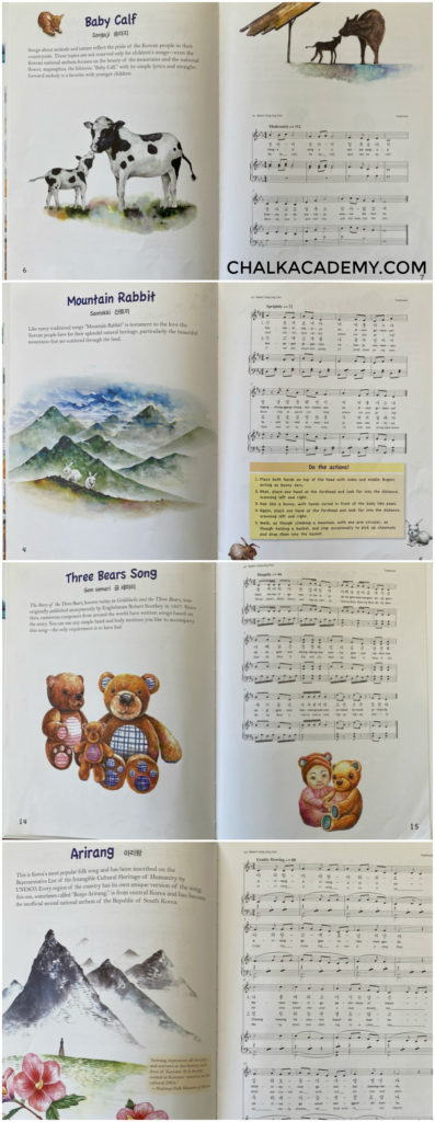 Korean folk songs piano music book for kids
