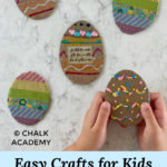 Easy crafts for kids - cardboard Easter Egg decorations