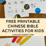 Free printable Chinese bible activities for kids - Sunday school learning