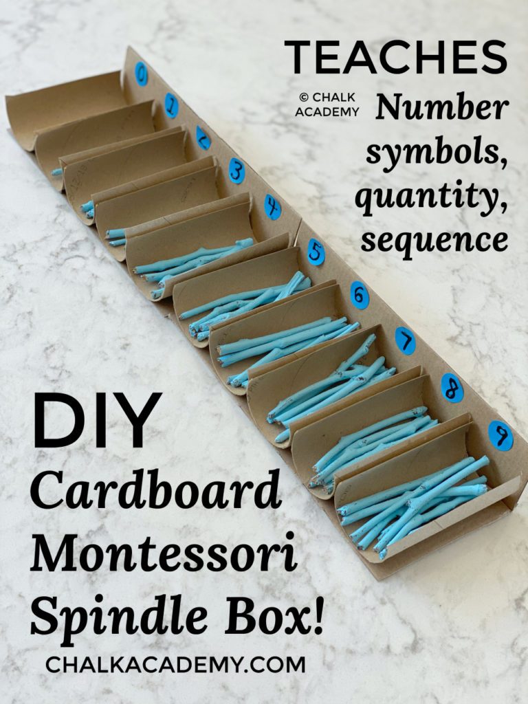 DIY Montessori Spindle Box with Recycled Cardboard Paper Rolls!