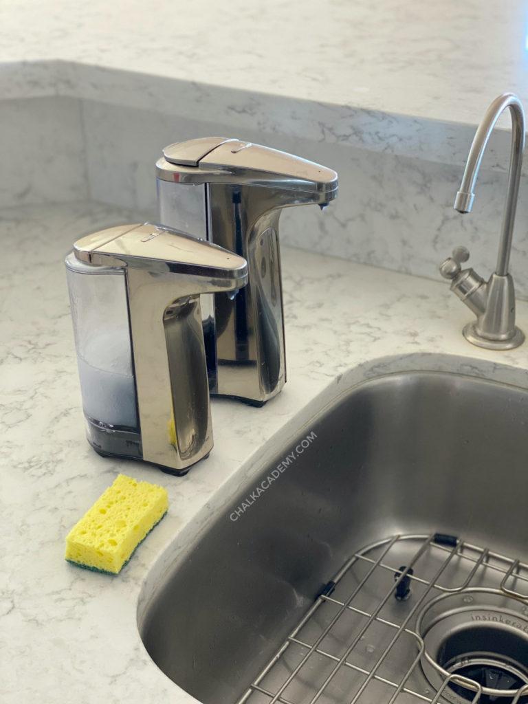 Simplehuman automatic kitchen soap dispensers