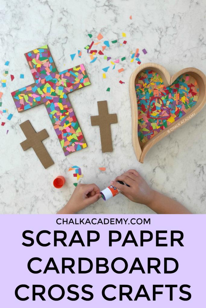 scrap paper cardboard cross crafts