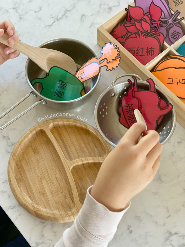 Pretend Play Food: Free Printable in English, Chinese, and Korean