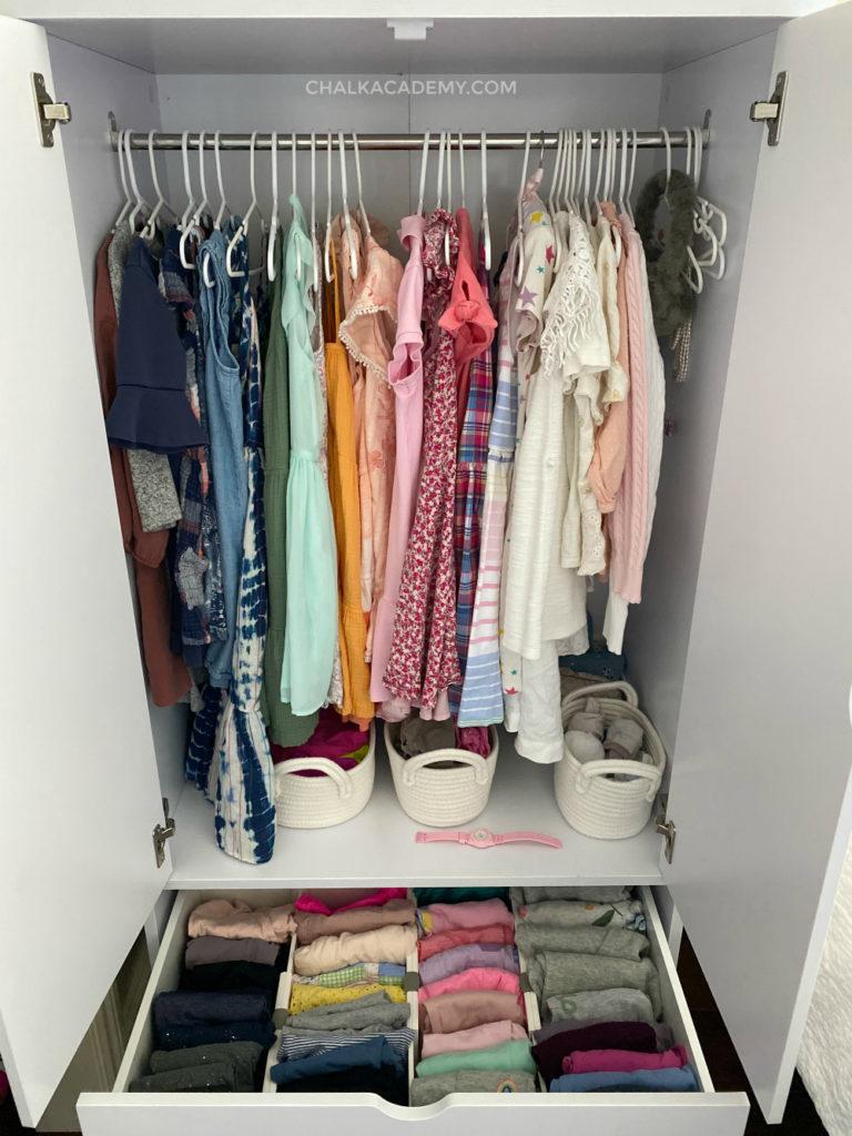 mid-century modern white armoire wardrobe for kids