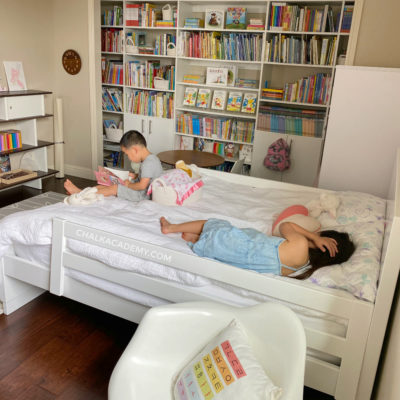 Tour of My Daughter's Musical Trilingual Library Bedroom
