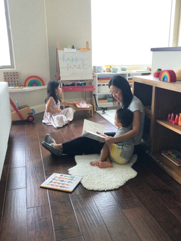 Trilingual part-time homeschooling and distance learning