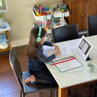 Year in Review: Part-Time Homeschooling / Distance Learning with 6-and-3-Year-Old Kids