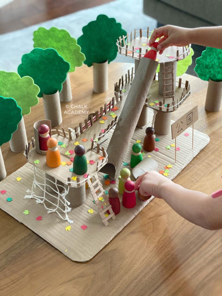Cardboard playground Climbing net 攀爬网绳 / 攀爬網繩 (pān pá wǎng shéng)