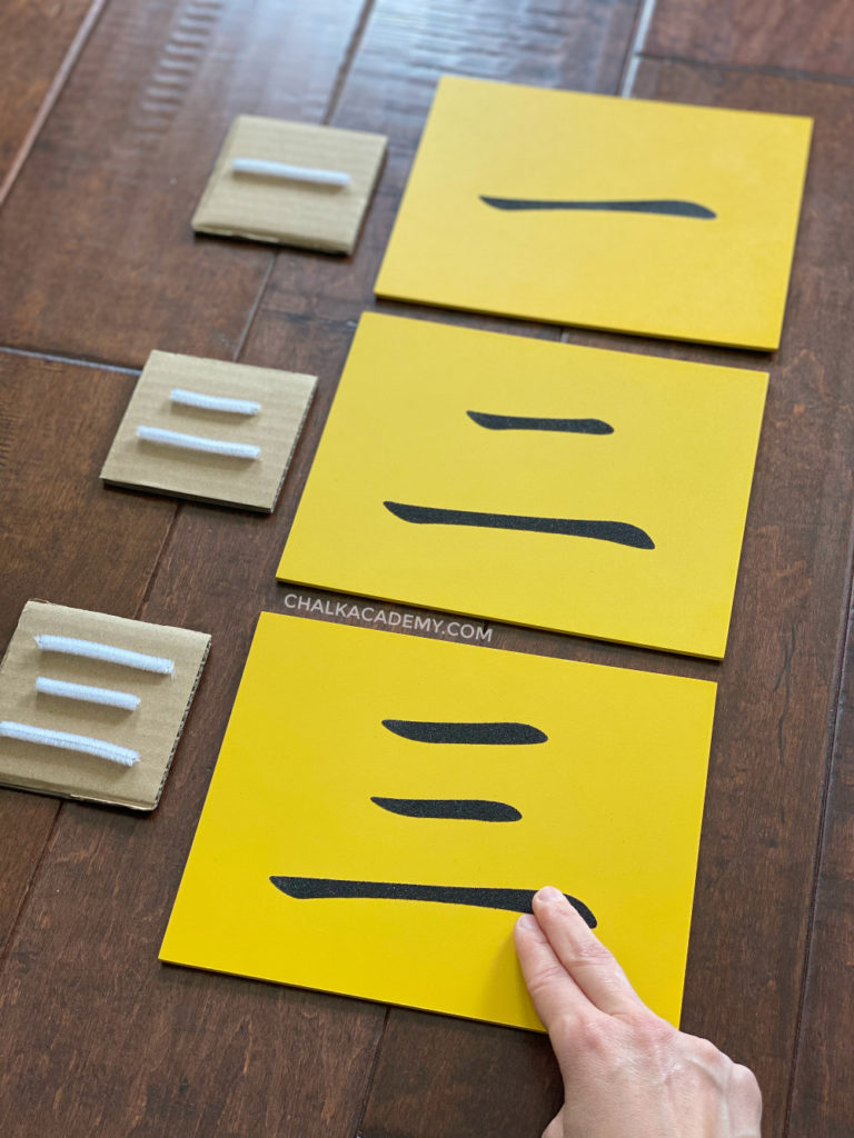 DIY Montessori tactile numbers - Chinese characters