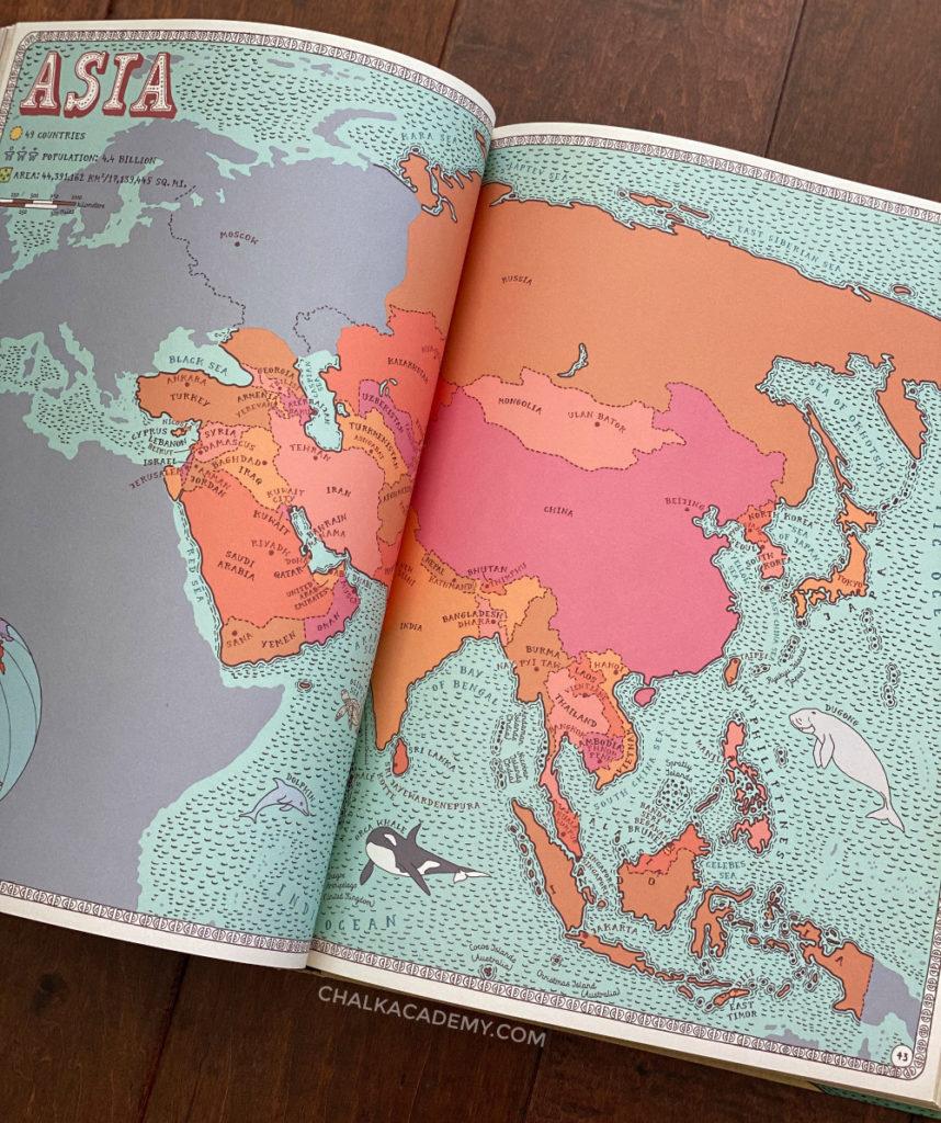 Maps book by by Daniel Mizielinska, Aleksandra & Mizielinski