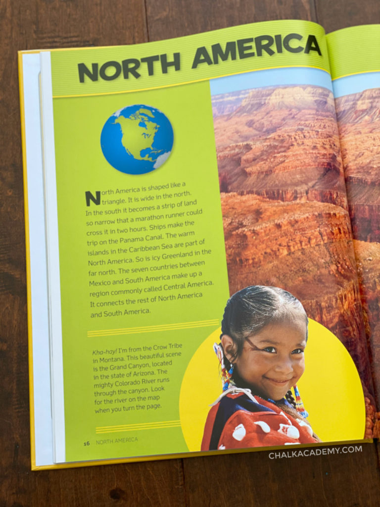 National Geographic Atlas book for kids