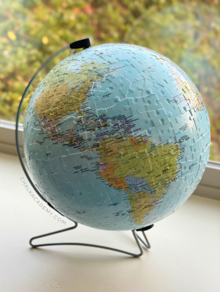 Ravensburger puzzle globe for kids and adults; fun decoration