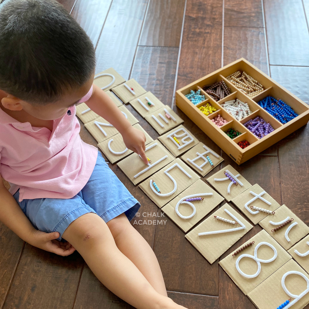 How to Count in Chinese and English the Montessori Way
