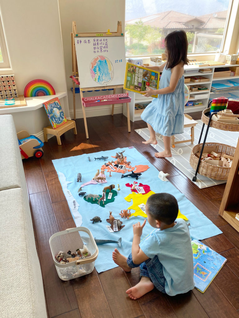 Geography learning resources for preschool, Kindergarten, and elementary school
