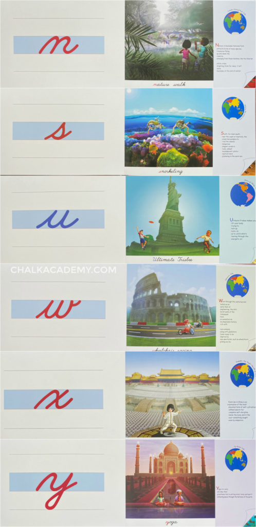 Montessori world alphabet book