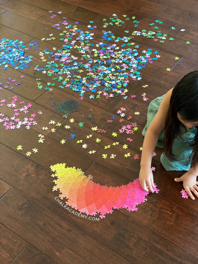 Color wheel round jigsaw puzzle - 1000 pieces