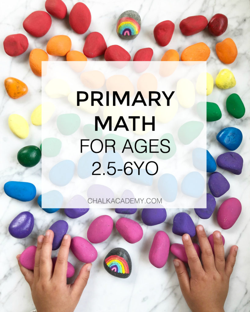 PRIMARY MATH for ages 2.5-6years of age - toddlers, preschool, kindergarten