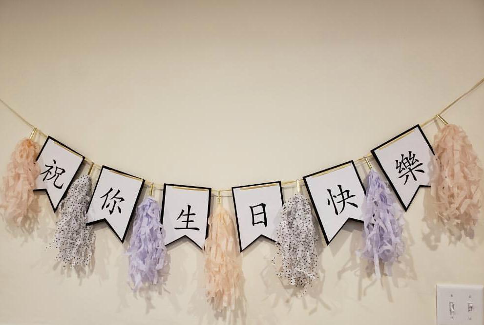 Chinese birthday banners