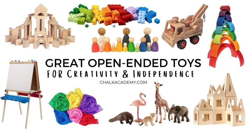 Great open-ended toys for creativity and independence