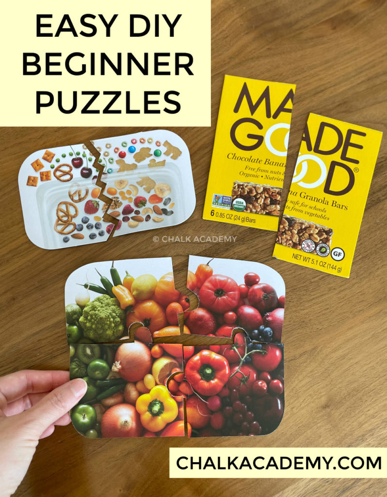 How to make easy DIY beginner puzzles for kids