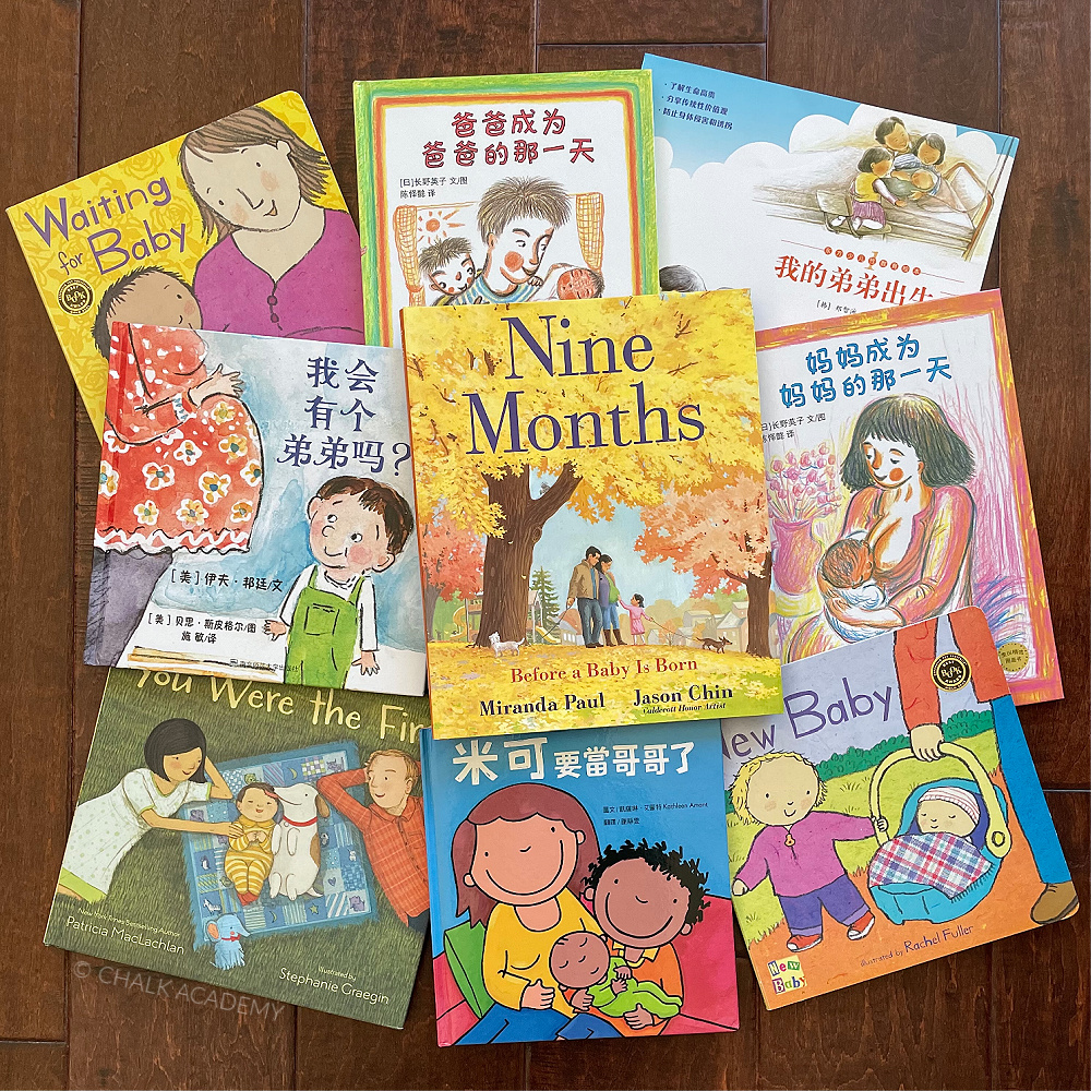 10 Kids Books About Preparing for New Baby Sibling in Chinese & English