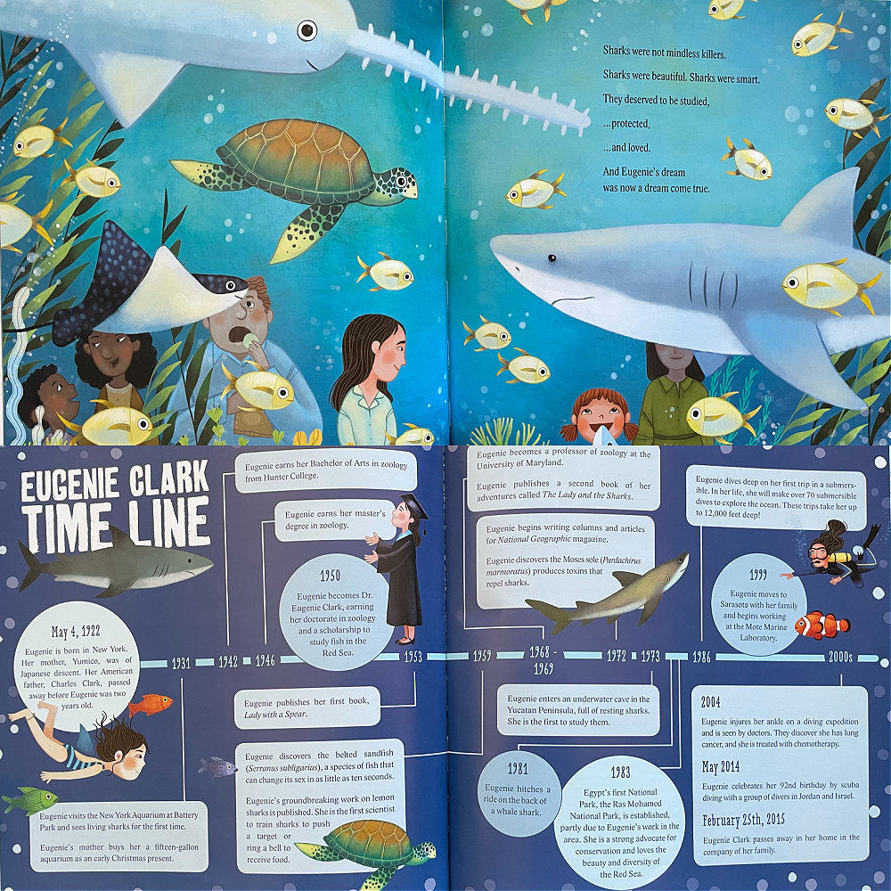 Shark Lady: How Eugenie Clark Became the Ocean's Most Fearless Scientist by Jess Keating - picture book about Japanese Asian Women's History Month