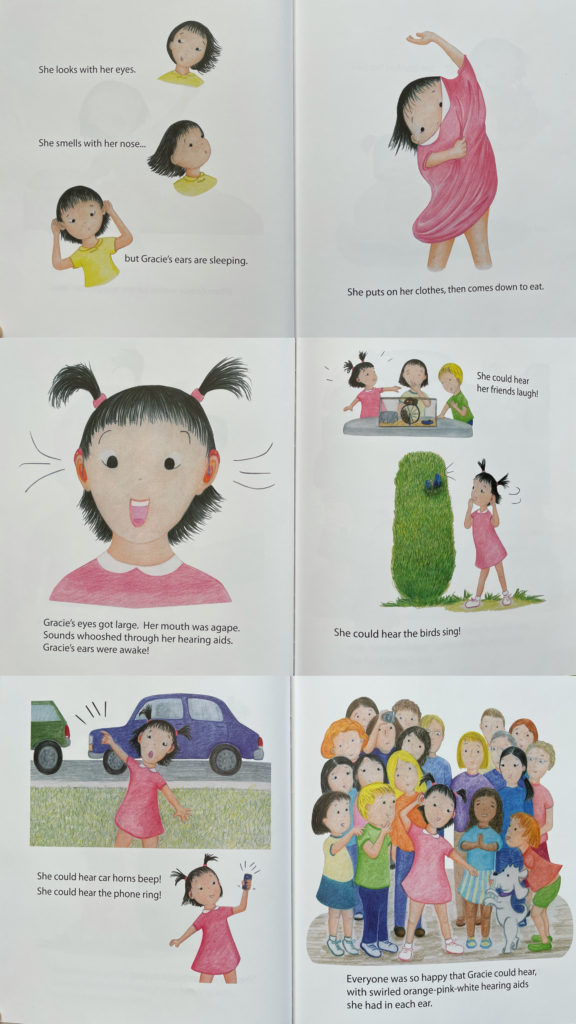 Gracie's Ears - picture book about Chinese Asian adopted child with hearing loss