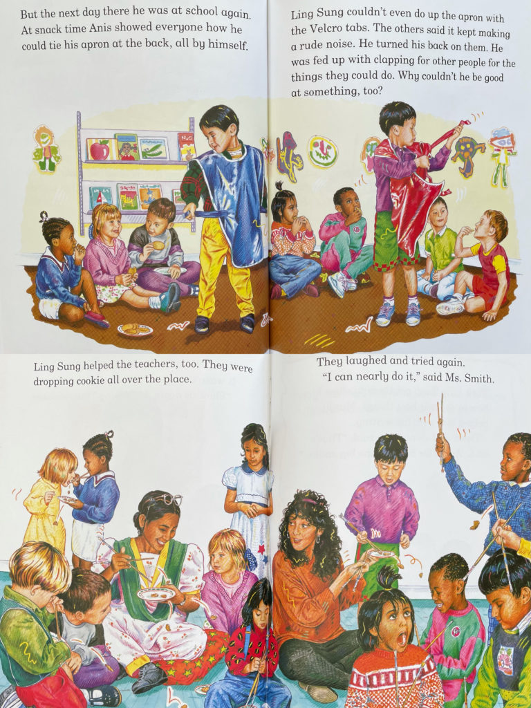 Cleversticks by Bernard Ashley - picture book about Chinese Ameircan culture, fitting in, using chopsticks