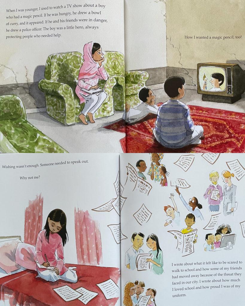 马拉拉的神奇画笔 Malala's Magic Pencil - picture book about Pakistani South Asian protagonist