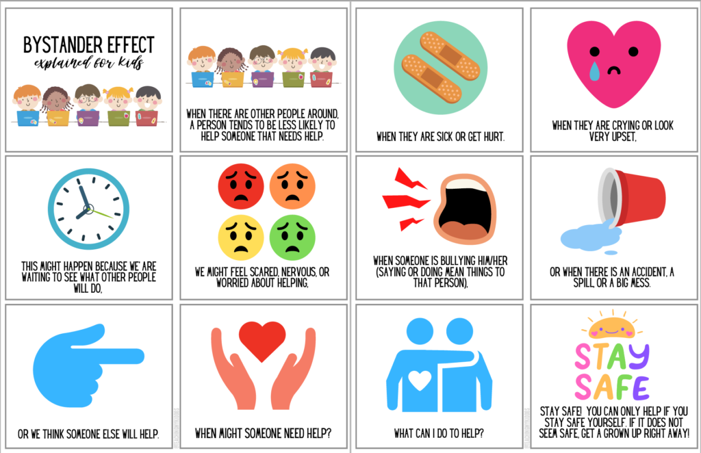 How to talk to kids about the bystander effect