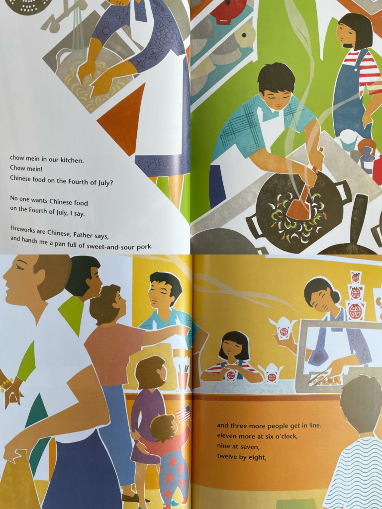 Apple Pie 4th of July by Janet S. Wong  - picture books for kids about Chinese American culture