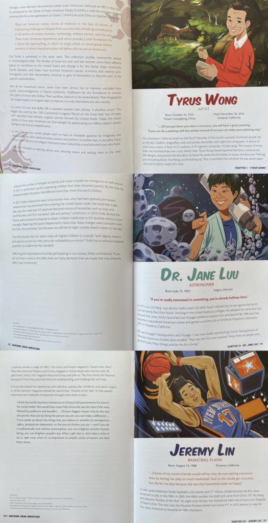 Picture book about Awesome Asian Americans: 20 Stars Who Made America Amazing by Phil Amara