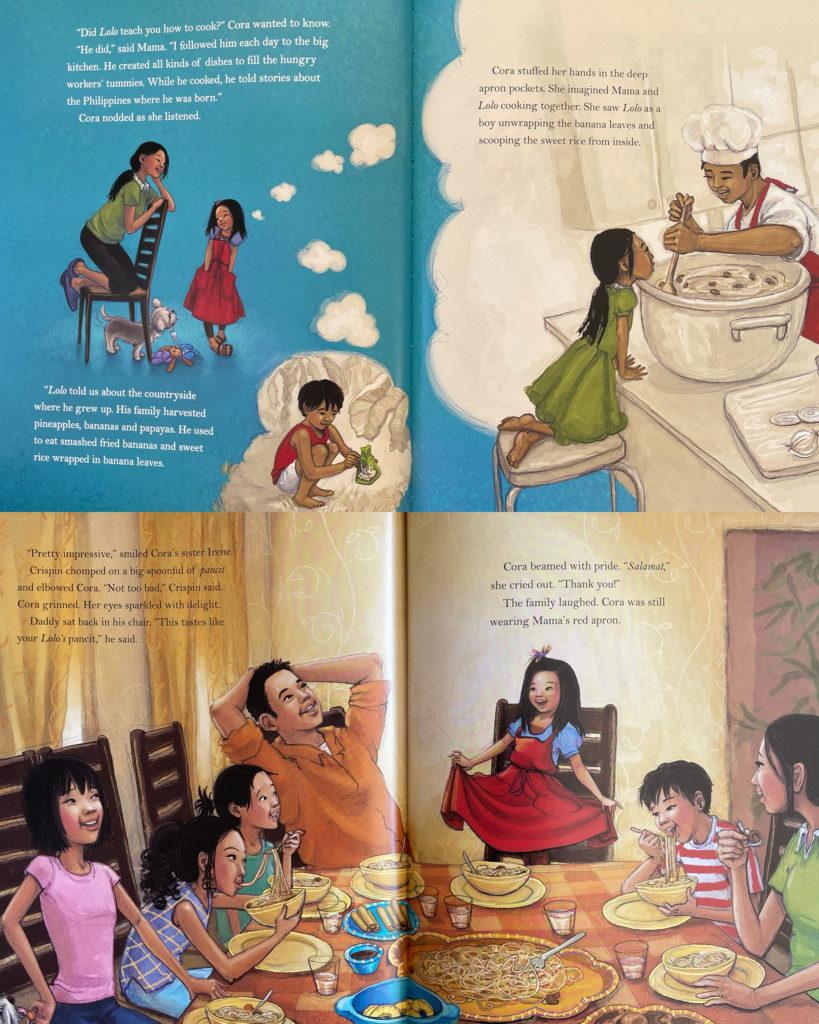 Cora Cooks Pancit by Dorina K. Lazo Gilmore - children's picture book about Filipino American culture