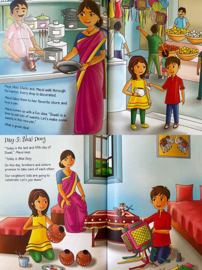Let's Celebrate 5 Days of Diwali! South Asian Indian American picture book for kids