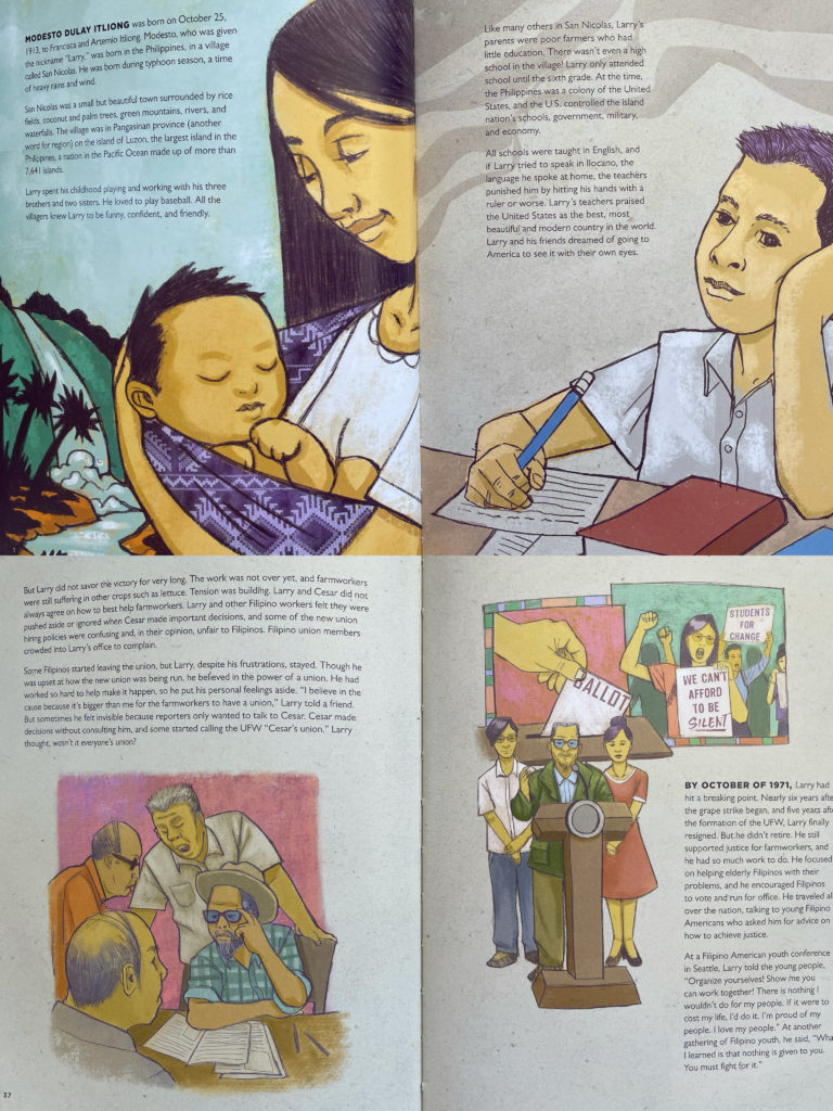 Journey for Justice - The Life of Larry Itliong - children's book about a Filipino American hero
