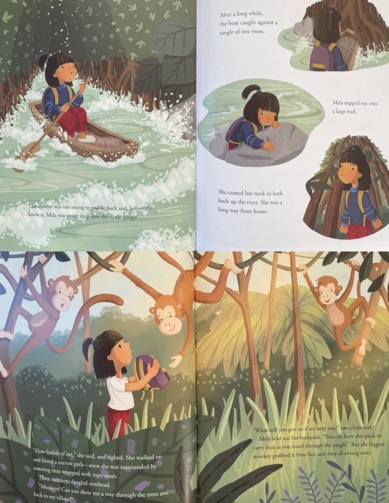 Mela and the Elephant by Dow Phumiruk - Thai folktale for children