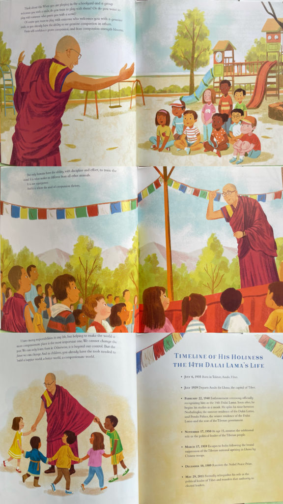 """Seed of Compassion: Lessons from the Life and Teachings of His Holiness the Dalai Lama """"own voices"""" picture book about Nobel Peace Prize Tibetan monk"""