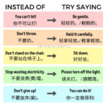 Positive versus Negative Phrasing in Parenting and Advocacy (English / Chinese)