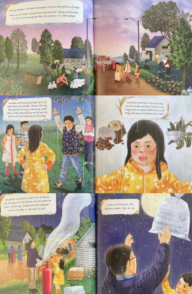 Rice from Heaven by Tina Cho - historical picture book about North and South Korea