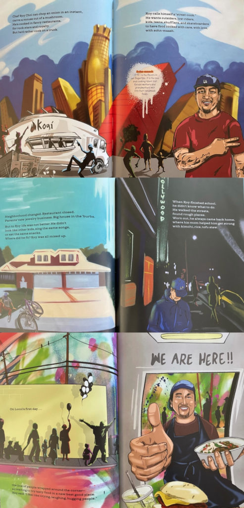 Chef Roy Choi picture book - comic book celebrating Korean culture