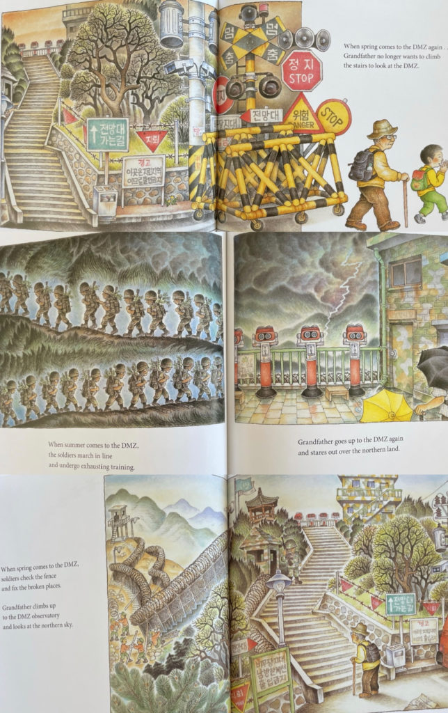 When Spring Comes to the DMZ - picture book about North and South Korea history