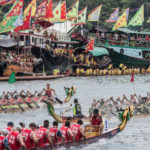 Chinese dragon boat festival racing