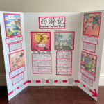 Preparing bilingual Journey to the West Monkey King book report poster presentation for elementary school